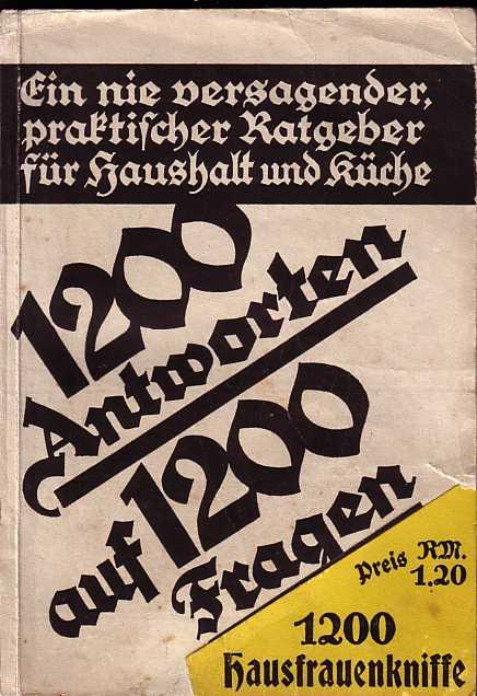 1200 hausfrauenkniffe von 1932. Black Bedroom Furniture Sets. Home Design Ideas