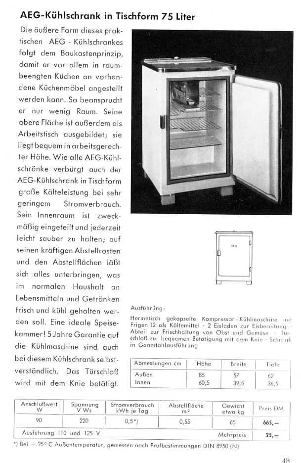 aeg katalog von 1953 haushaltsger te teil 3. Black Bedroom Furniture Sets. Home Design Ideas