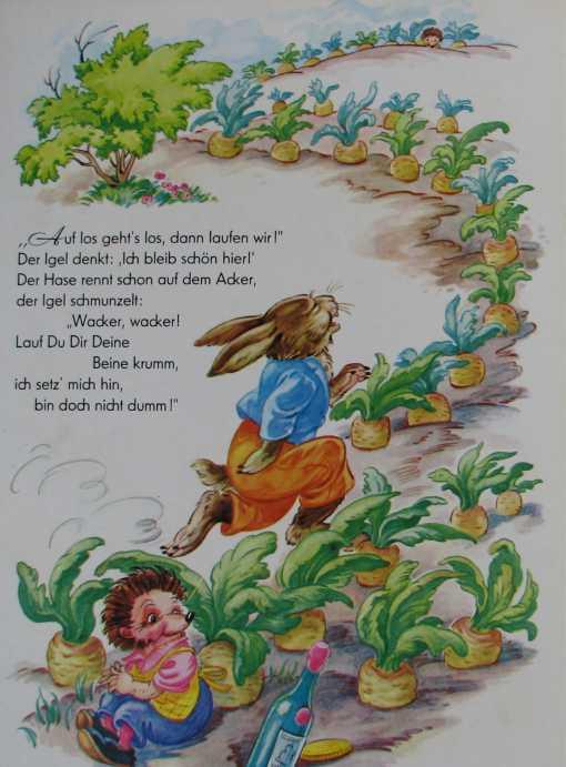 Der Wettlauf zwischen Hase und Igel- Bilderbuch 50er www.eichwaelder.de