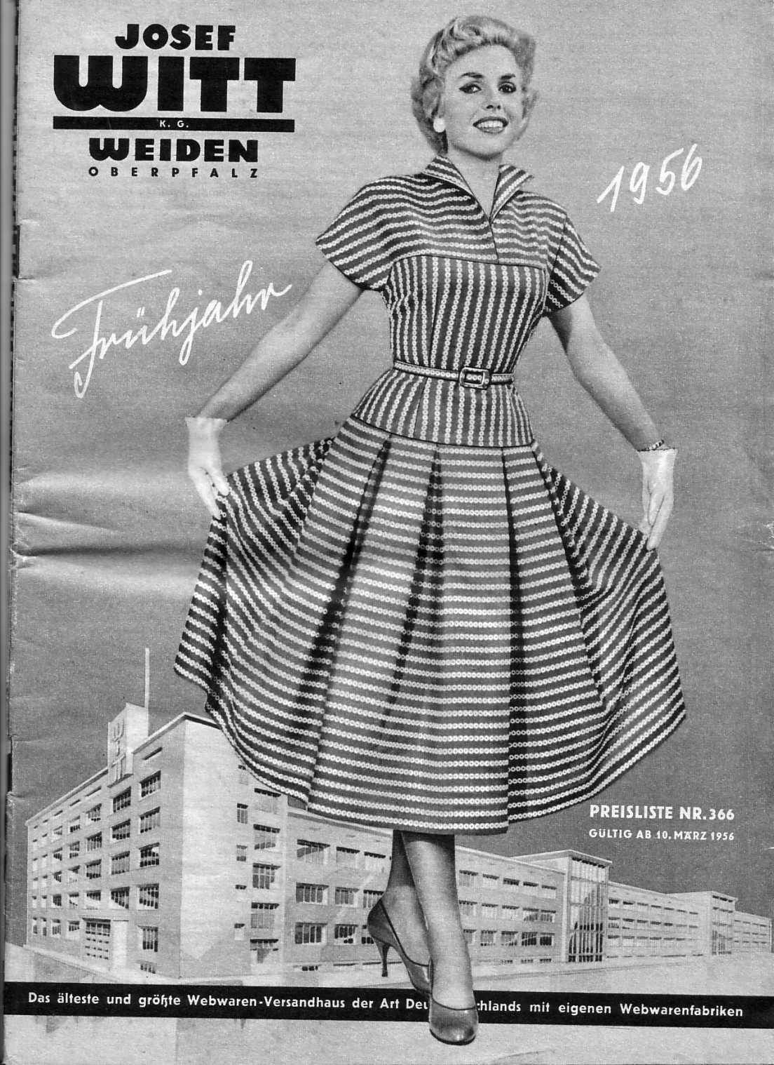 7d916fc82c534c Vom ältesten deutschen Textil-Versandhaus Josef Witt - Weiden (seit 1907)  habe ich bereits einen Katalog von 1938 vorgestellt.