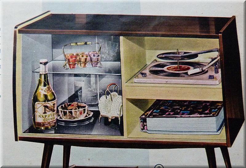 Ein Barfach Im Wohnzimmer Gehrte In Den 50er 60er Jahren Meist Zum Standard Entweder Gab Es Fach Wohnzimmerschrank Oder Besonders Beliebt Waren