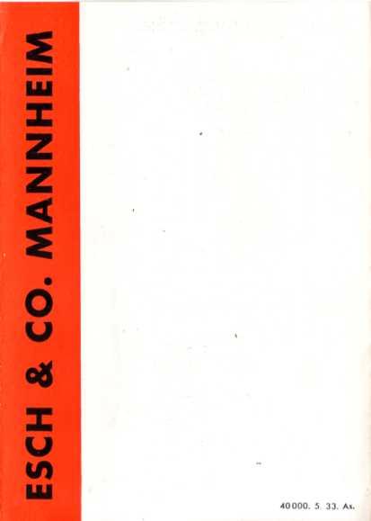 esch dauerbrand fen mannheim 1933 prospekt. Black Bedroom Furniture Sets. Home Design Ideas