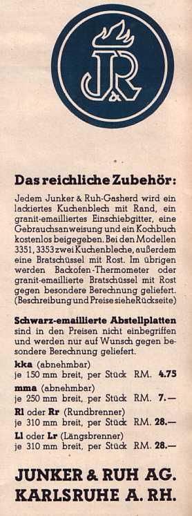 Junker und Ruh Karlsruhe GasherdeProspekt wwweichwaelderde # Nähmaschine Junker Und Ruh