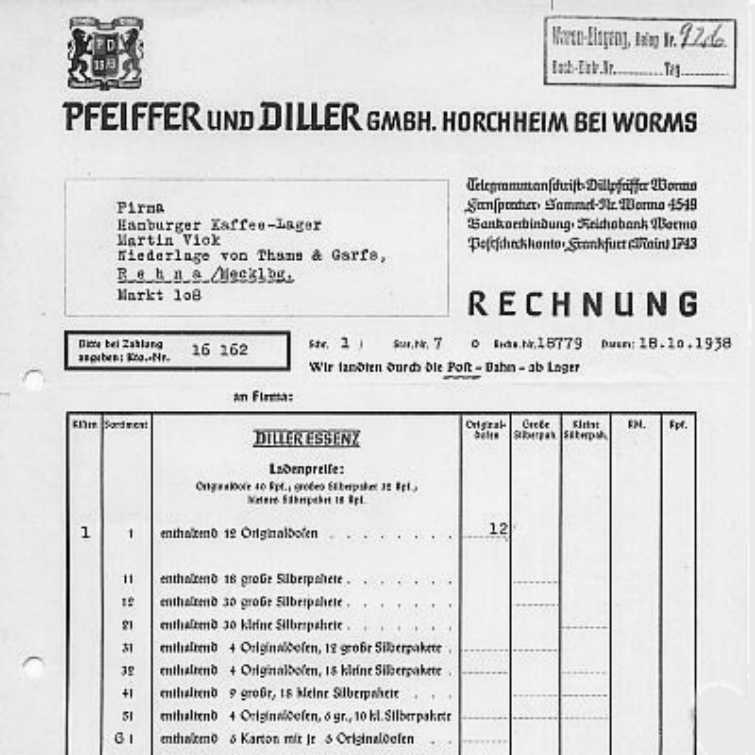 Pfeiffer und Diller - Kaffee-Zusatz-Essenz Dose