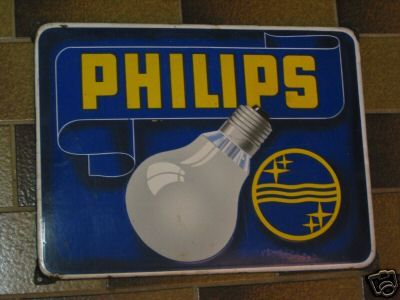 Philips lampe emailschild for Lampen 50iger jahre