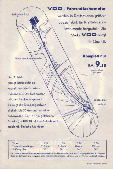 kilometerzähler fahrrad mechanisch