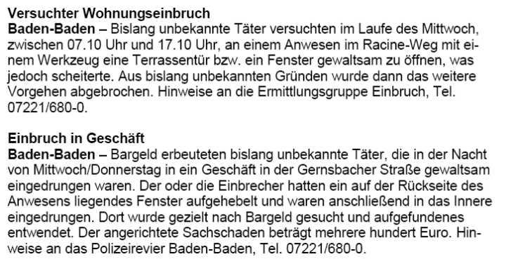 bahnhof offenburg polizeieinsatz