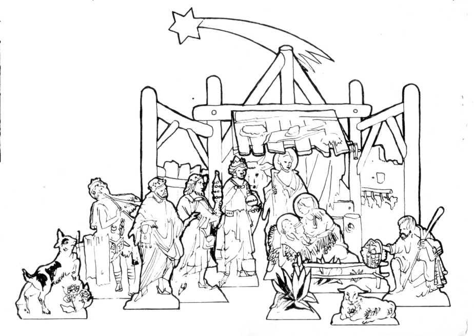 Image gallery krippe zeichnung for Synonym basteln